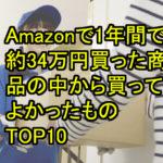 Amazonで1年で34万9012円分買った商品の中から特に買ってよかったものTOP10